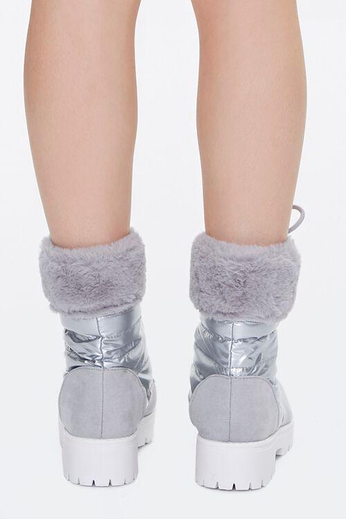 Fur-Trim Paneled Combat Boots, image 3