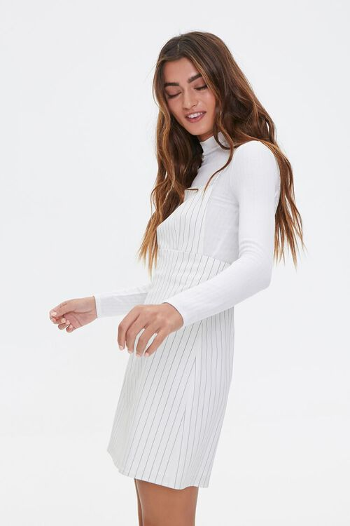 Striped Print Overall Dress, image 2
