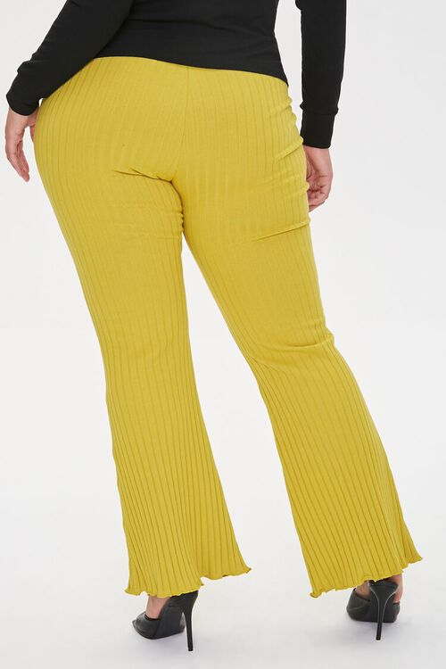 Plus Size Ribbed Flare Pants, image 4