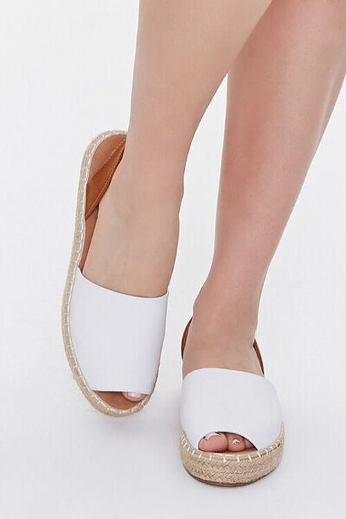Peep-Toe Espadrille Flatform Sandals, image 4