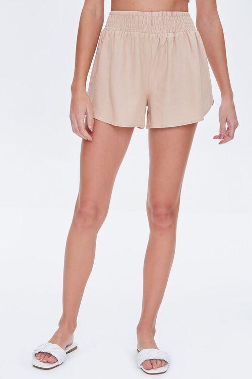 Smocked-Waist Shorts, image 2