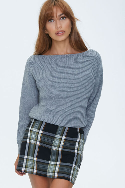 Ribbed Boat Neck Sweater, image 1
