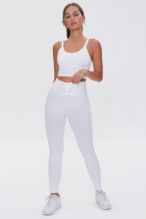 WHITE Seamless Cropped Cami, image 4