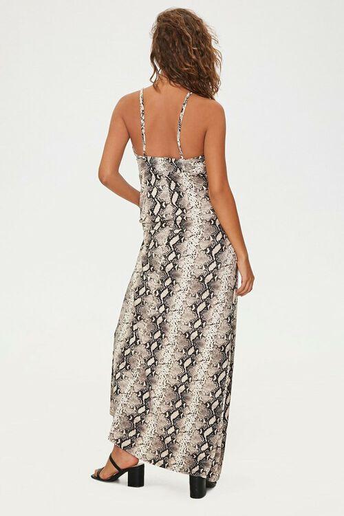 Snake Print Maxi Dress, image 3