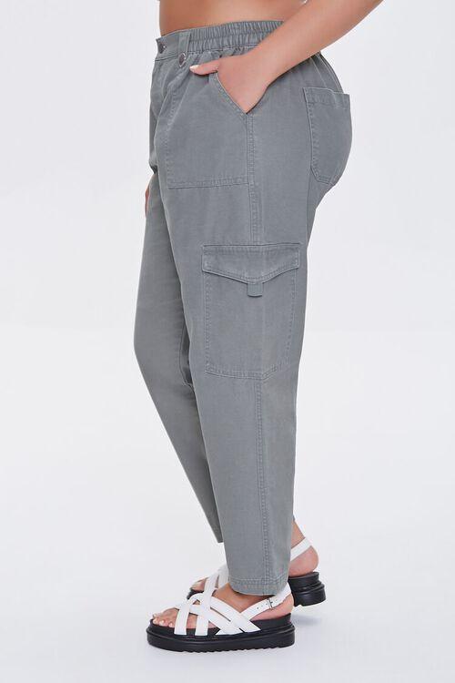 Plus Size Cargo Ankle Pants, image 3