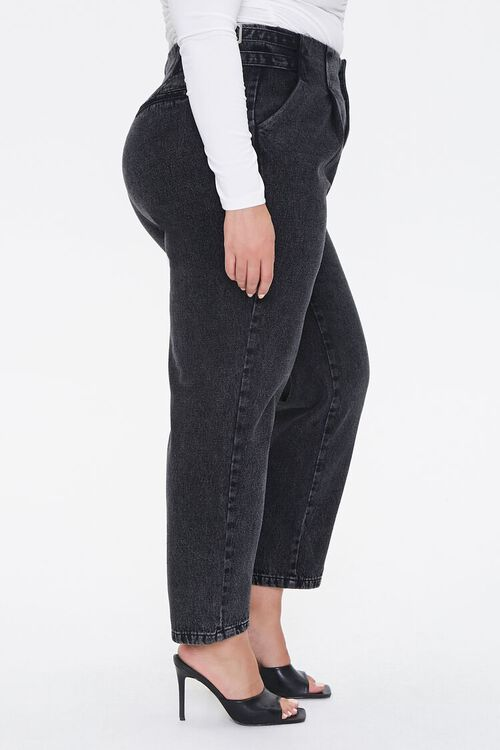 Plus Size Buckled Straight-Leg Jeans, image 3