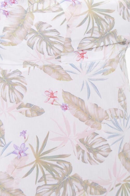 Plus Size Tropical Leaf Print Dress, image 5