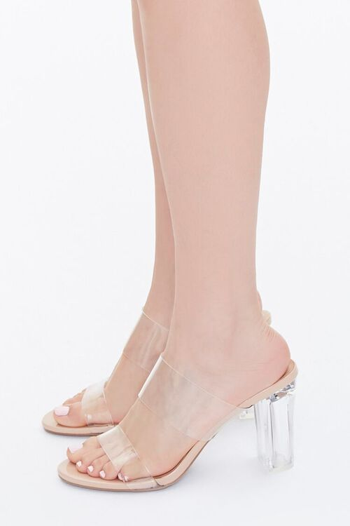 Transparent Lucite Block Heels, image 2