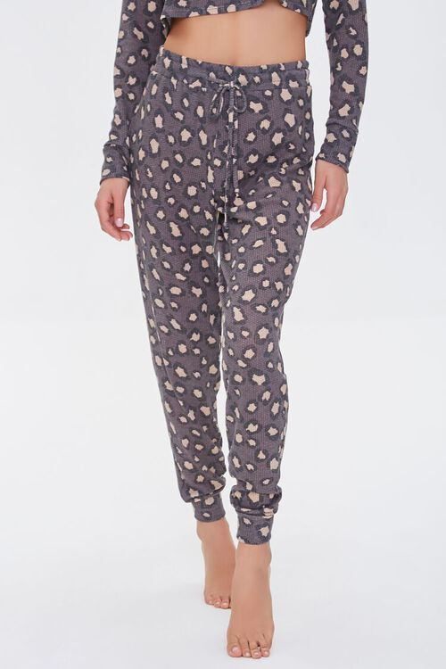 Leopard Print Lounge Pants, image 2