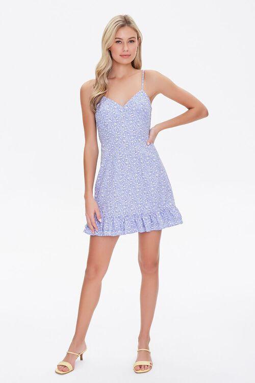 Floral Print Tie-Back Mini Dress, image 4