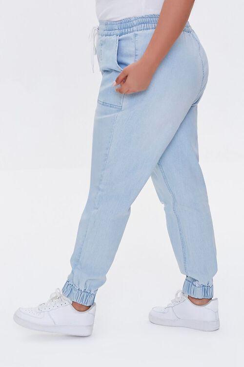 Plus Size Denim Joggers, image 3