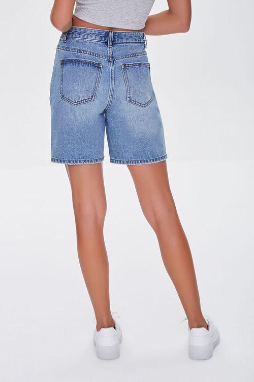 Crisscross Denim Bermuda Shorts, image 4
