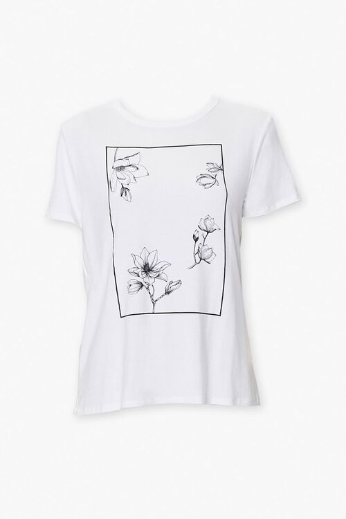 Floral Art Graphic Tee, image 1