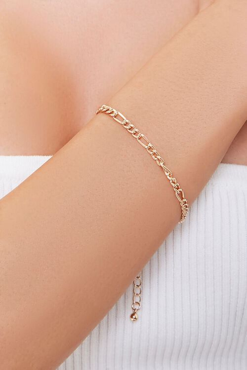 Figaro Chain Bracelet, image 1