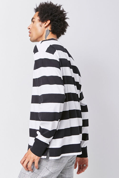 Embroidered Graphic Striped Tee, image 2