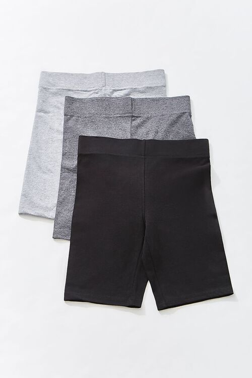 BLACK Basic Organically Grown Cotton Biker Shorts, image 1