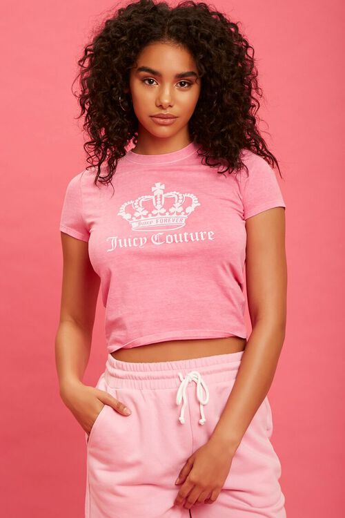 PINK/WHITE Juicy Couture Graphic Tee, image 6