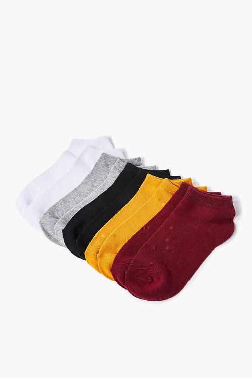 BURGUNDY/MUSTARD Assorted Ankle Socks - 5 Pack, image 2