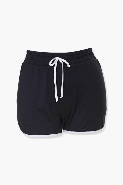 Plus Size Ringer Dolphin Shorts, image 1