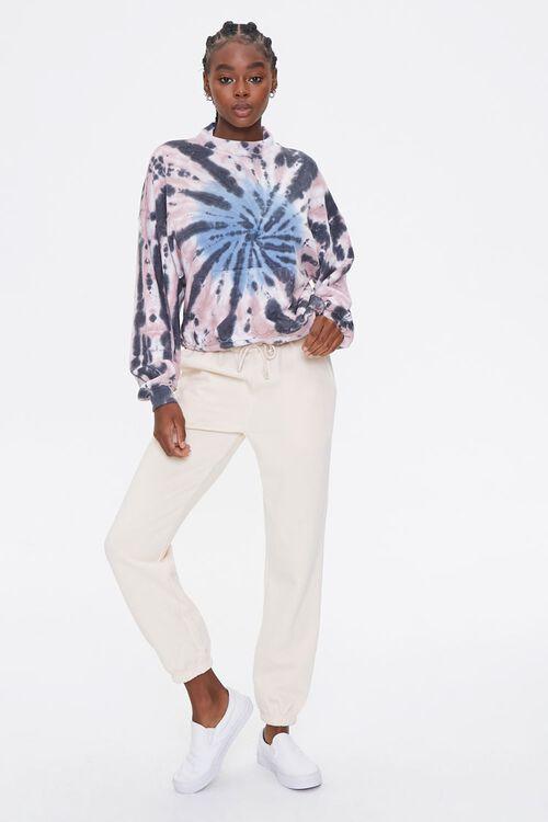 BLACK/MULTI Fleece Tie-Dye Sweatshirt, image 4