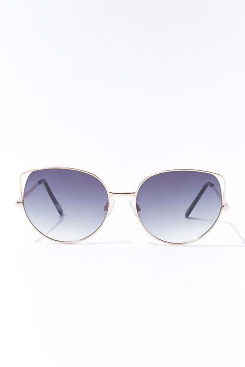 Round Tinted Metal Sunglasses, image 1