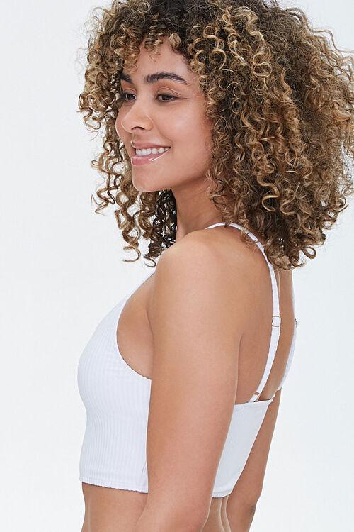 Ribbed V-Neck Bralette Bikini Top, image 2