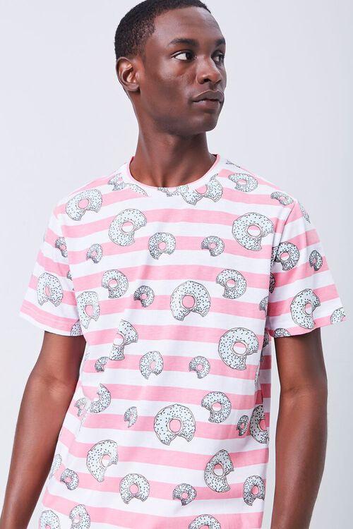 Donut Print Striped Shirt, image 1