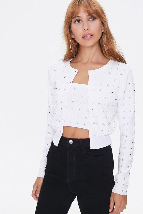 Studded Cardigan Sweater, image 1