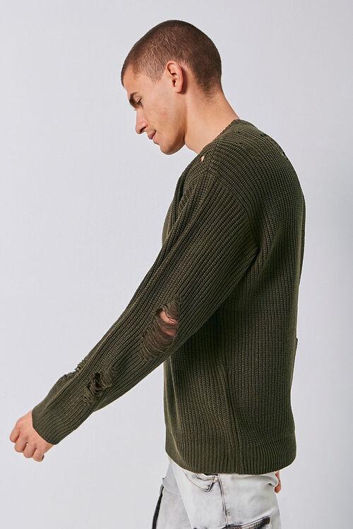 Distress Ribbed Knit Sweater, image 2