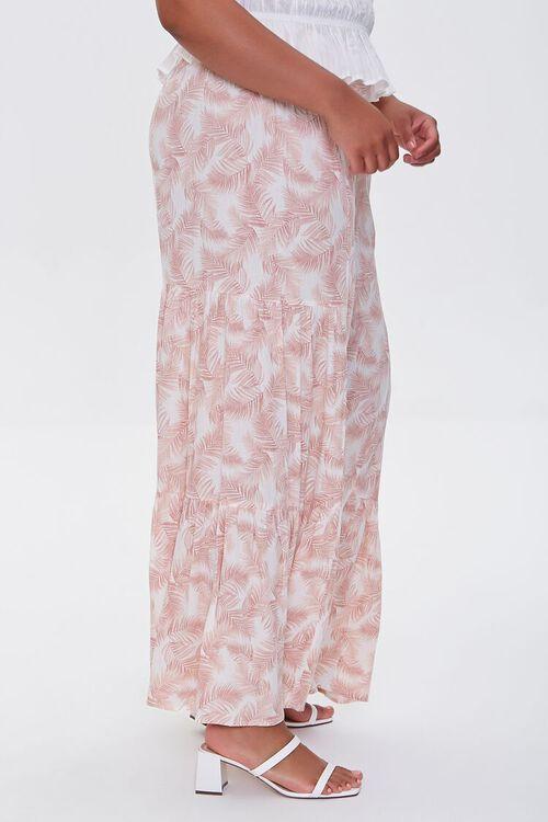 Plus Size Leaf Print Wide-Leg Pants, image 3