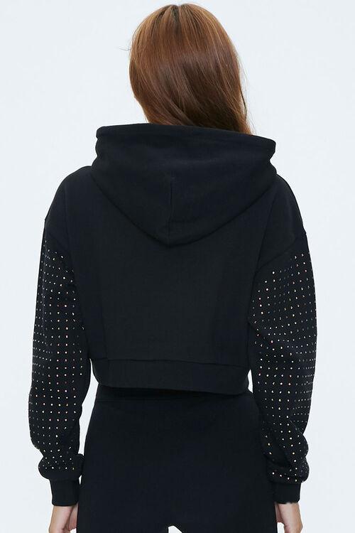 Dropped Studded-Sleeve Hoodie, image 3