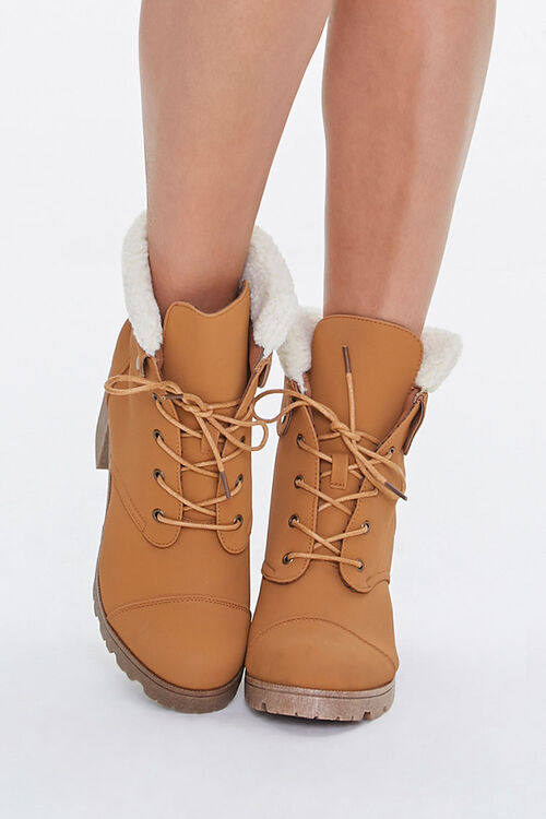 Faux Shearling Ankle Boots, image 4