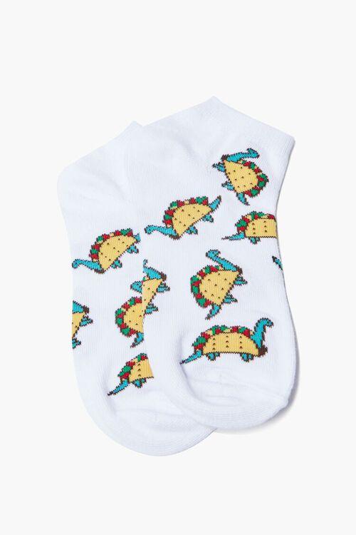 Dino Taco Ankle Socks, image 2