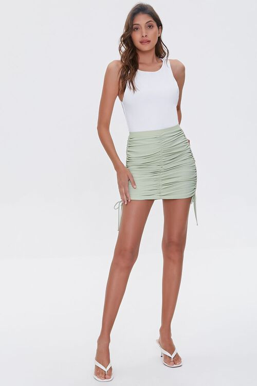 Ruched Bodycon Mini Skirt, image 5