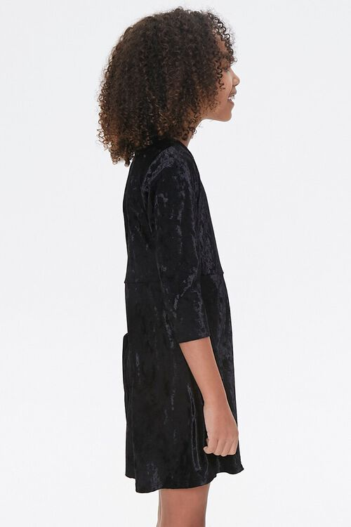 Girls Velvet Skater Dress (Kids), image 2
