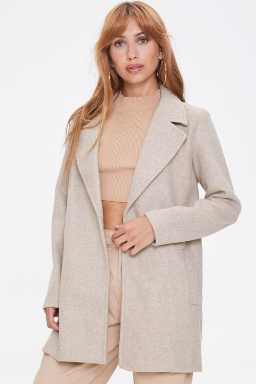 Heathered Fleece Blazer, image 1