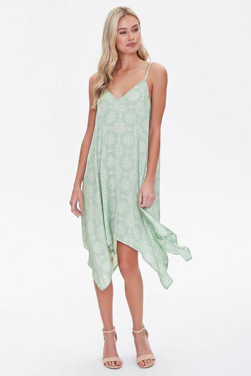 Ornate Print Handkerchief Dress, image 4