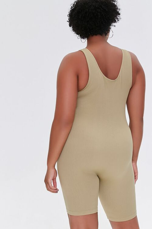 SAGE Plus Size Sleeveless Fitted Romper, image 3