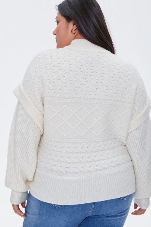 Plus Size Layered Mock Neck Sweater, image 3