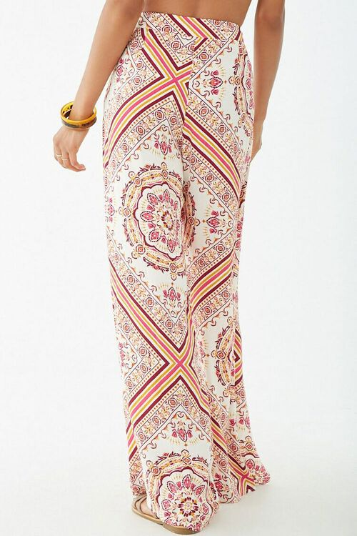 Ornate Print Knotted Overlay Pants, image 4