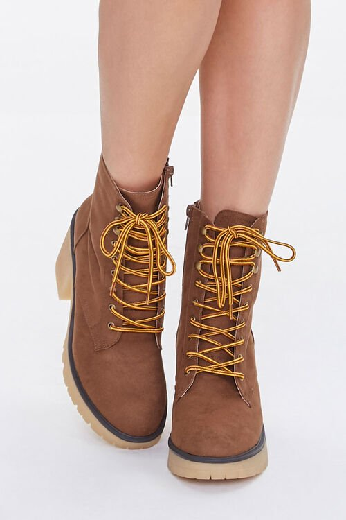 Lace-Up Block Heel Boots, image 4