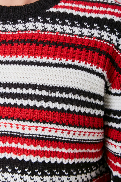 Striped Knit Crew Neck Sweater, image 6