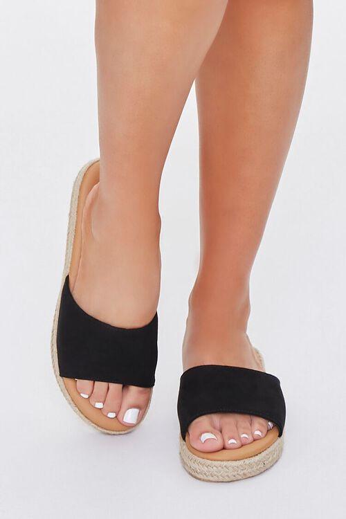 Faux Suede Espadrille Sandals, image 4