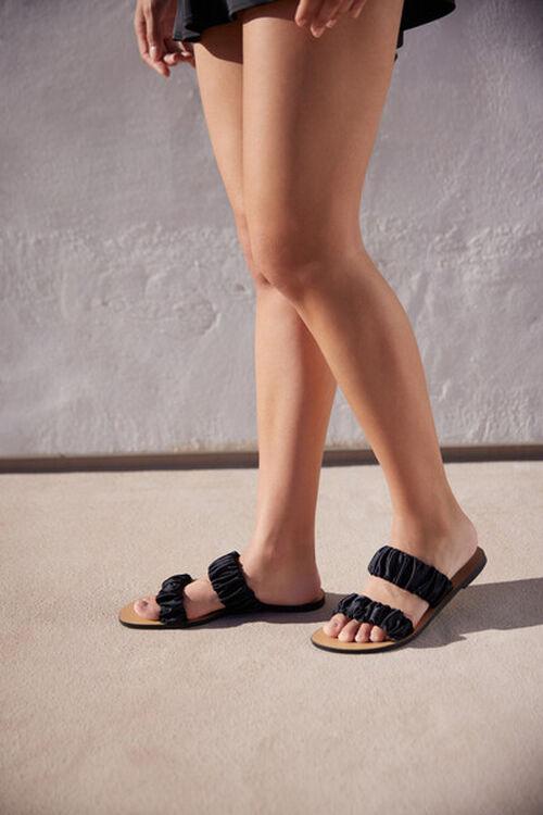 Satin-Strap Flat Sandals, image 1