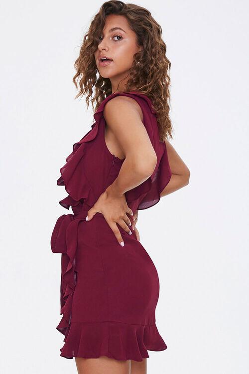 Chiffon Ruffle-Trim Wrap Dress, image 2