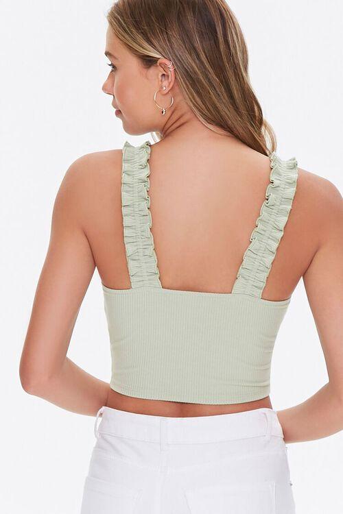 Buttoned Bustier Crop Top, image 3
