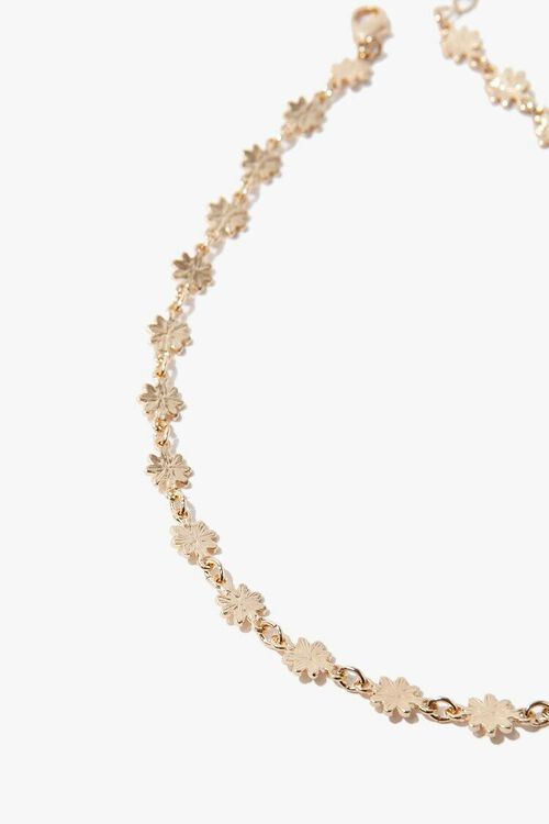 GOLD Daisy Chain Choker Necklace, image 3