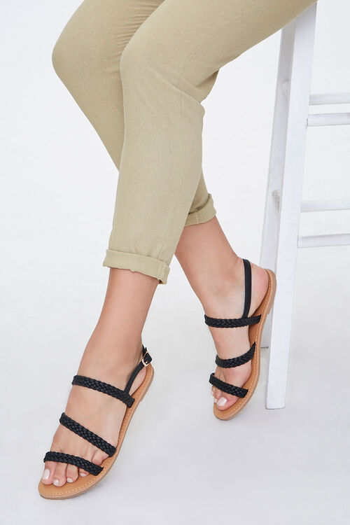 Braided Flat Sandals, image 1