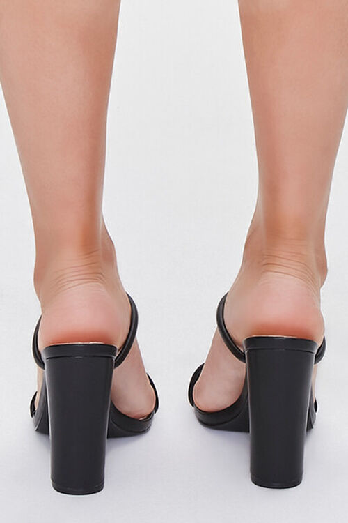 BLACK Faux Leather Block Heels, image 3