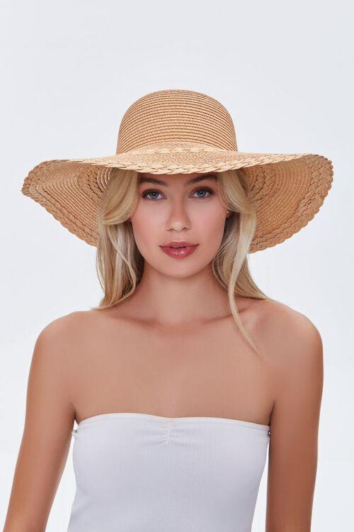 Floppy Faux Straw Hat, image 2